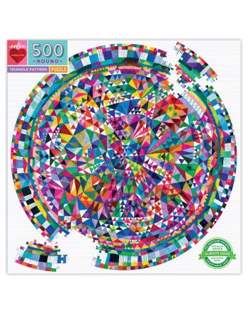 Round Puzzle 500 κομ, Triangle Pattern