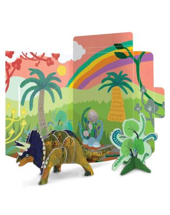 3D Puzzle Κατασκευή Δεινόσαυρος, Triceratops