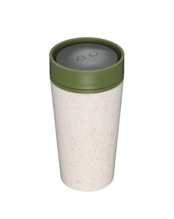 Οικολογικά Ποτήρια - Θερμός 340ml, rcup, Cream-Green