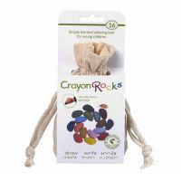 Crayon Rocks, 16 χρώματα σε λευκό πουγκί