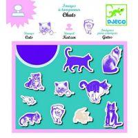 Στάμπες με σχέδια Γάτες, Djeco